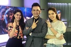 BTV Ngọc Trinh, Hạnh Phúc, Thụy Vân chụp ảnh xin Like