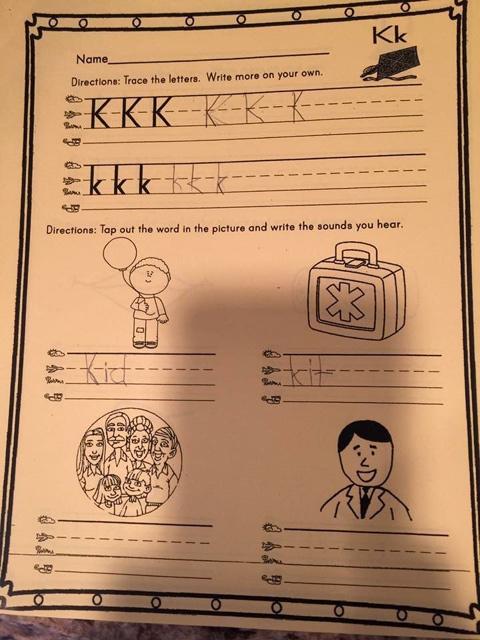 bài tập về nhà, mầm non