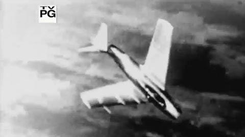 Máy bay rơi liểng xiểng trong cuộc không chiến đẫm máu ở Triều Tiên
