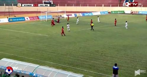 U19 HAGL 0-0 U19 Myanmar phút 11