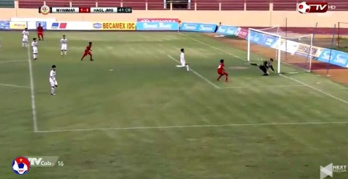 U19 HAGL 0-0 U19 Myanmar phút 41