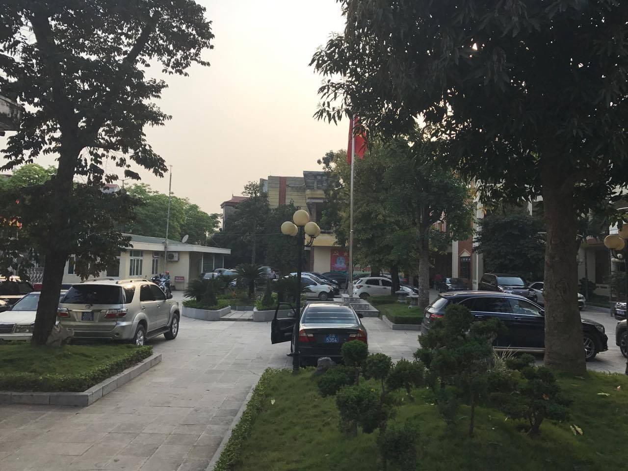Trụ sở UBND huyện Mỹ Đức chiều nay. Ảnh: Phong Nguyễn