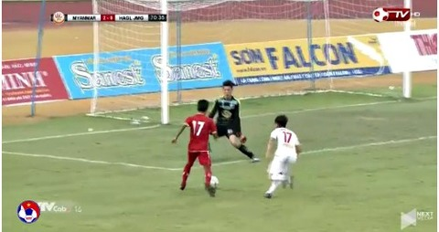 U19 HAGL 0-2 U19 Myanmar phút 71