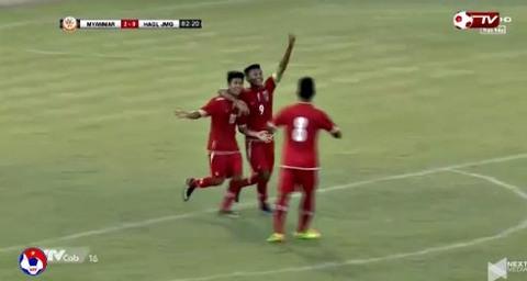 U19 HAGL 0-3 U19 Myanmar phút 84