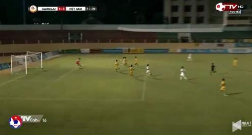 U19 Việt Nam 0-0 U19 Gwangju phút 20