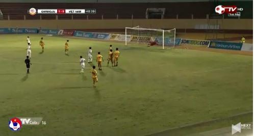 U19 Việt Nam 0-1 U19 Gwangju phút 48'