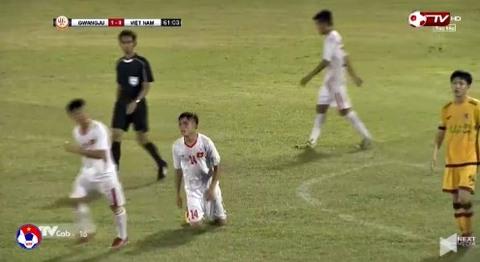 U19 Việt Nam 0-1 U19 Gwangju phút 59