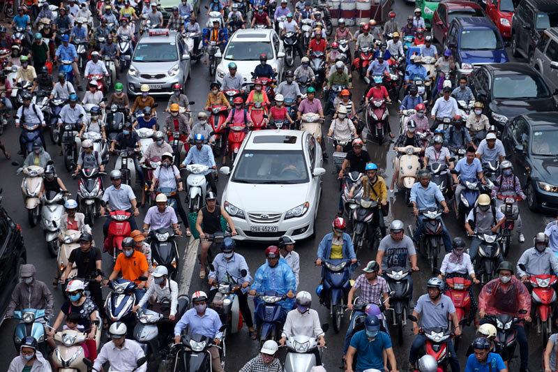 xe máy, ô tô, tắc đường, phương tiện cá nhân, Hà Nội, thành phố Hồ Chí Minh