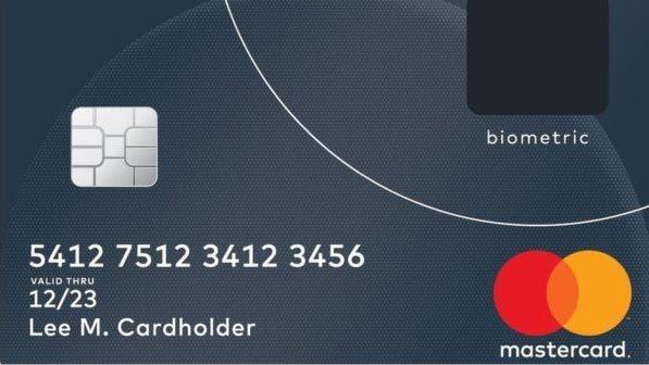 thẻ tín dụng, cảm biến vân tay