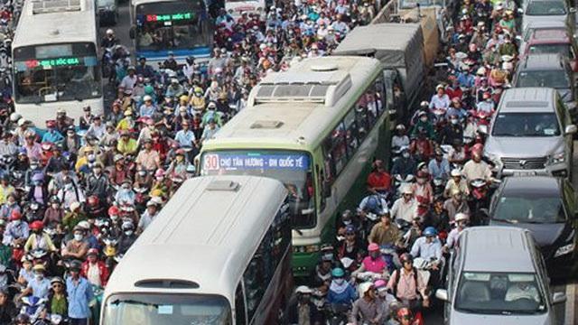 xe máy, cấm xe máy, tắc đường, giao thông công cộng, xe buýt