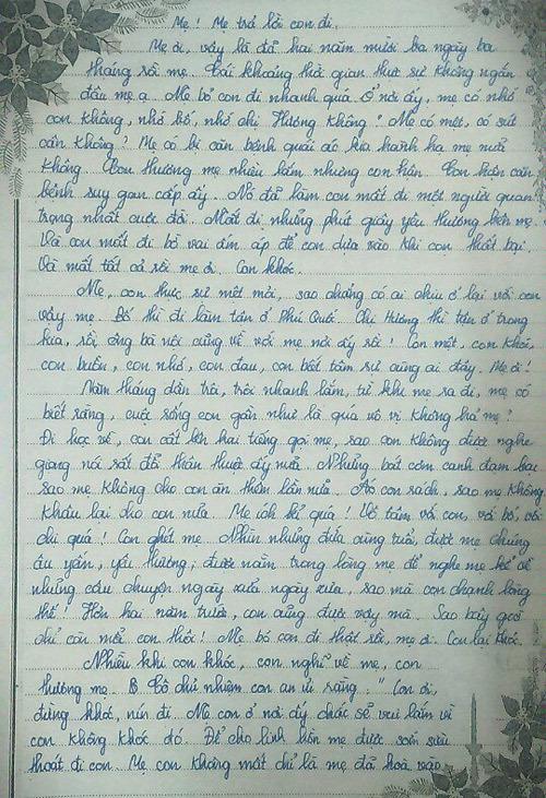 Bức thư xúc động gửi mẹ đã khuất của nữ sinh lớp 9 - ảnh 3