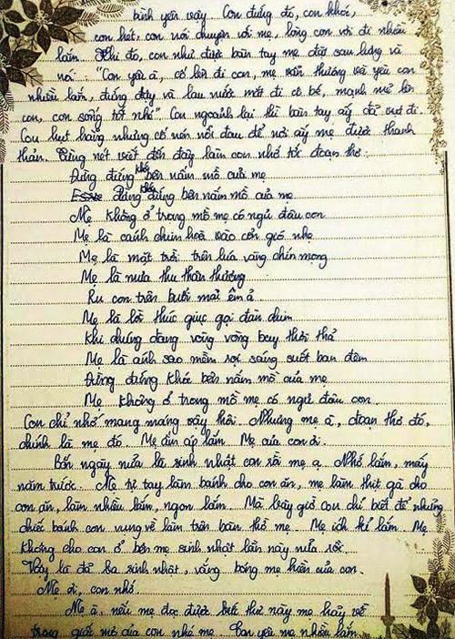 Bức thư xúc động gửi mẹ đã khuất của nữ sinh lớp 9 - ảnh 6