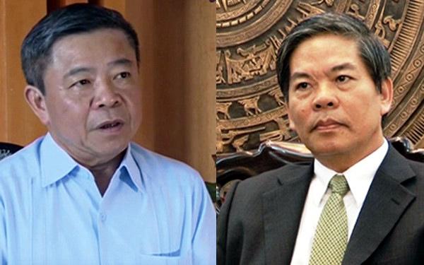 Ông Võ Kim Cự và nguyên Bộ trưởng TN&MT Nguyễn Minh Quang