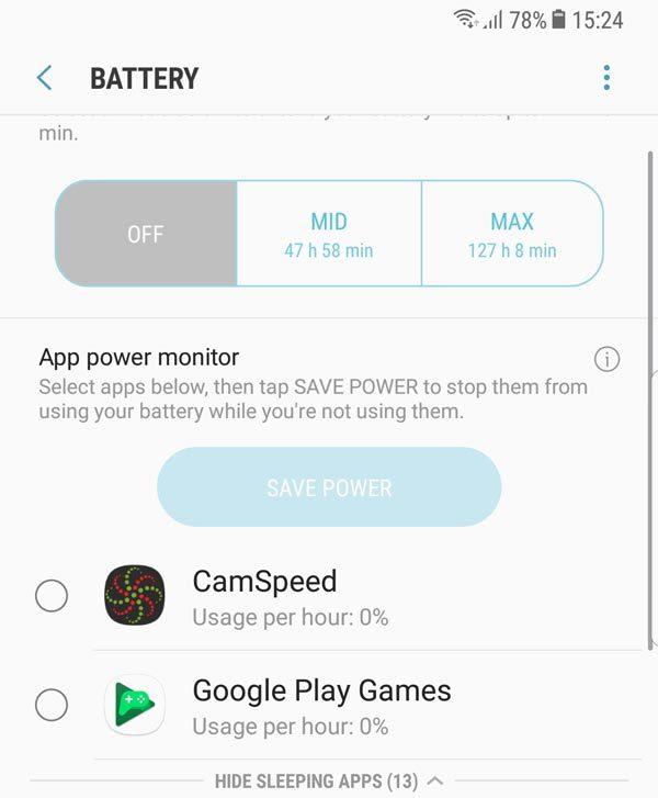Các mẹo tiết kiệm pin cho Galaxy S8/S8+