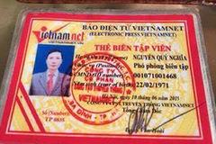 Liên tục phát hiện các trường hợp giả danh báo VietNamNet