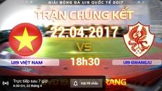 Link xem trực tiếp U19 Việt Nam vs U19 Gwangju 18h30 ngày 22/4