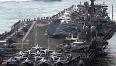 Tàu chiến Nhật tập trận với nhóm tàu tấn công Mỹ