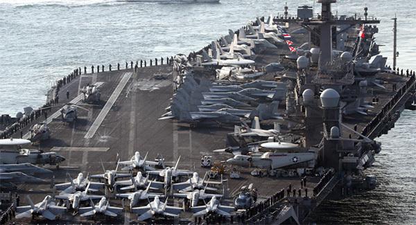tình hình Triều Tiên, tập trận Mỹ Nhật, tàu chiến Mỹ