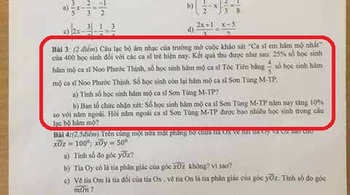 Đề thi học kỳ yêu cầu tính số học sinh hâm mộ Sơn Tùng M-TP