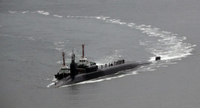 tàu ngầm hạt nhân, USS Vinson,Triều Tiên phóng tên lửa