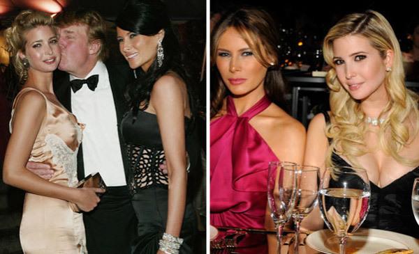 Ivanka Trump, Donald Trump,  Melania Trump