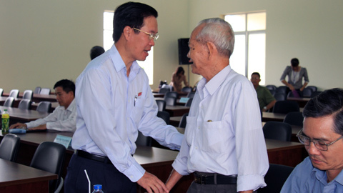 Ông Võ Văn Thưởng: Không để xảy ra mâu thuẫn giữa dân và chính quyền