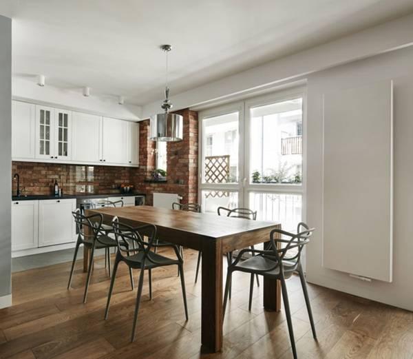 trang trí nhà, nội thất, gạch trần, căn hộ chung cư