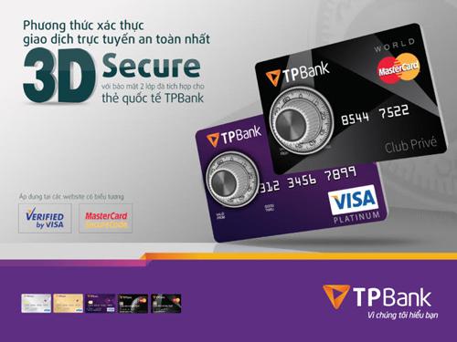 TPBank áp dụng xác thực 3D secure cho chủ thẻ