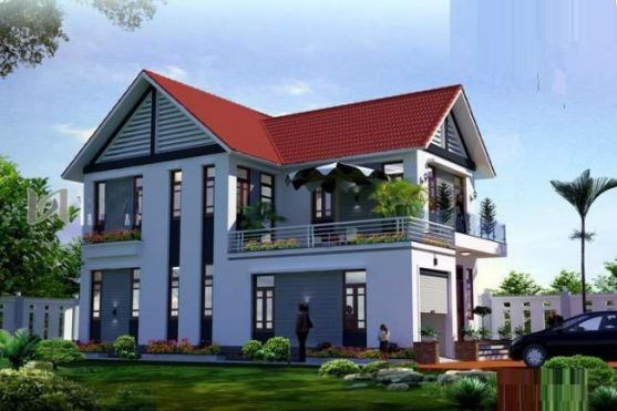 nhà đẹp, nhà 2 tầng, nhà mái thái