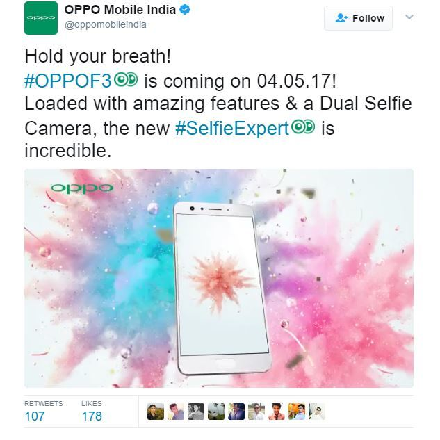 Oppo F3, smartphone, Oppo