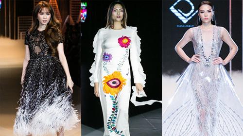 Ngọc Trinh, Kỳ Duyên đọ catwalk với siêu mẫu Võ Hoàng Yến