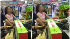 Cô gái xinh đẹp có hành động và câu nói xấu xí giữa siêu thị Hà Nội