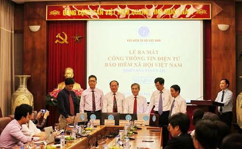 Ra mắt cổng thông tin điện tử BHXH Việt Nam