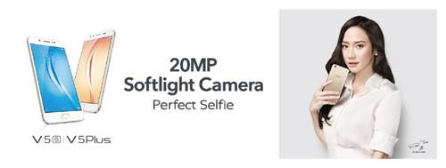 Vivo V5s 'gây sốt' với camera selfie độ phân giải 20MP