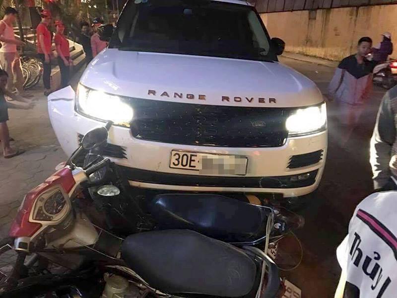 Cướp Range Rover, gây tai nạn liên hoàn trong đêm ở Hà Nội