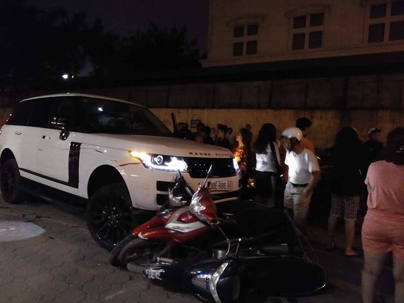 cướp xe  Range Rover, Tai nạn liên hoàn, Hà Nội