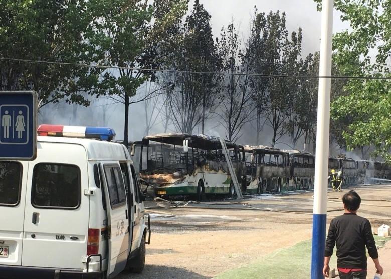Cháy lớn do đốt pháo ở Bắc Kinh