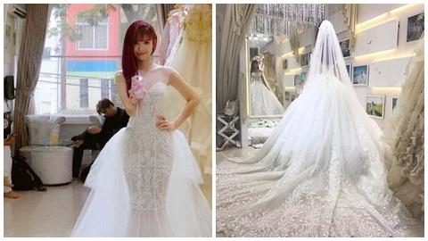 Chiêm ngưỡng bộ váy cưới cầu kỳ của Khởi My
