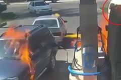 Bật lửa soi bình nhiên liệu, thiêu rụi cả cây xăng