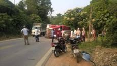 Hà Giang: Xe container đè hai ô tô con, nhiều người bị thương