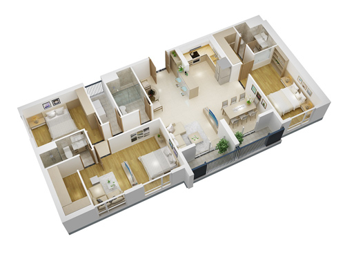 Xu hướng mua căn hộ ghép tại chung cư cao cấp