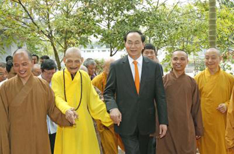 Chủ tịch nước thăm Đại lão Hòa thượng Thích Phổ Tuệ