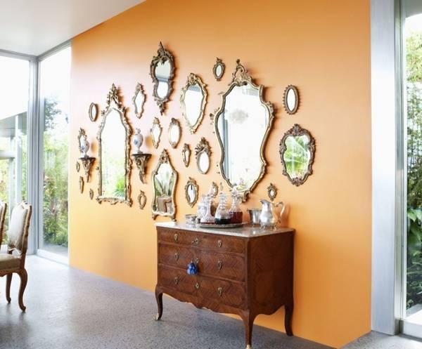 gương phong thủy, thiết kế nhà, nội thất