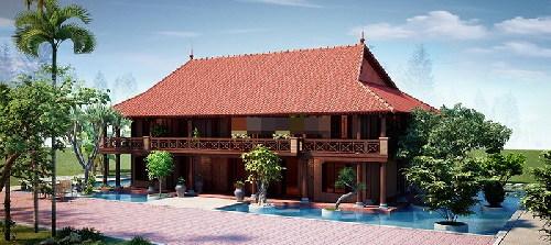 thiết kế nhà, nhà gỗ, xây nhà 2 tầng