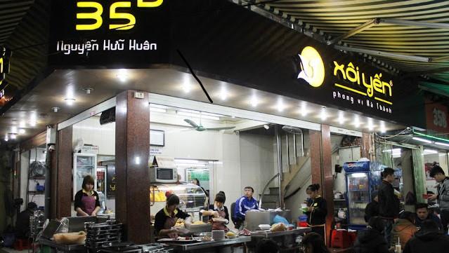 hàng xôi, xếp hàng, khách hàng, ẩm thực Hà Nội