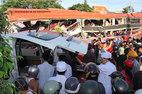 Clip xe tải lao như tên bắn trước khi gây tai nạn 12 người chết