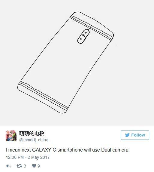 Galaxy C10 sẽ là smartphone đầu tiên của Samsung có camera kép?