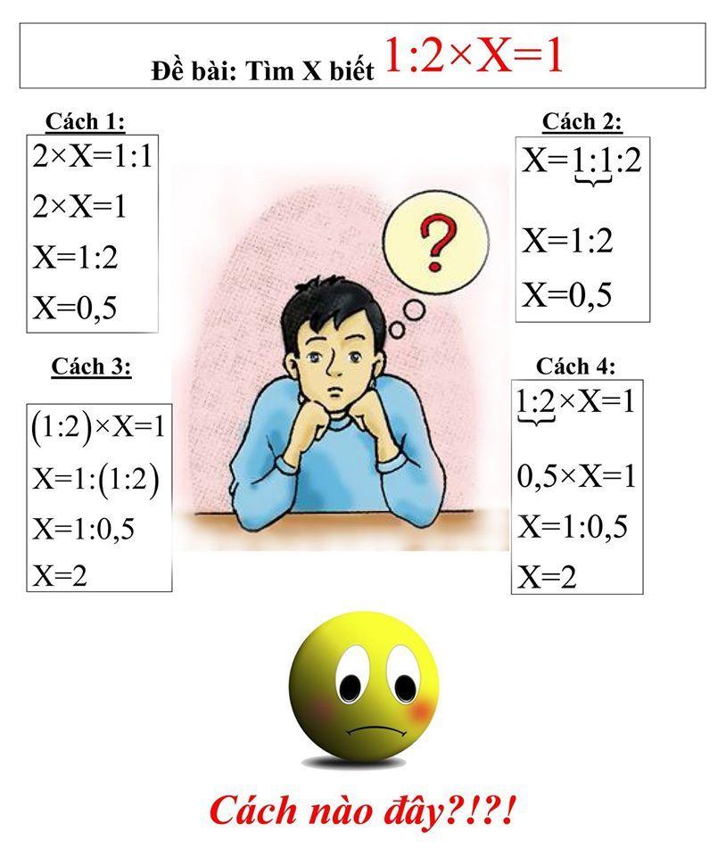 Đau đầu với bài toán có 4 cách giải, 2 đáp số