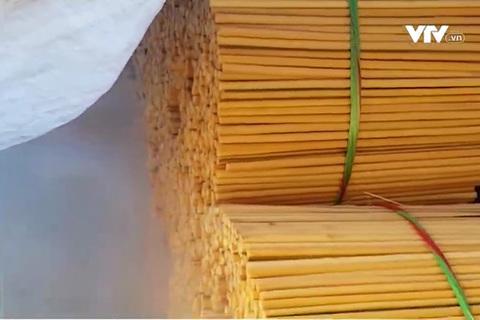 Công nghệ ủ lưu huỳnh chống mốc, tẩy trắng đũa ăn
