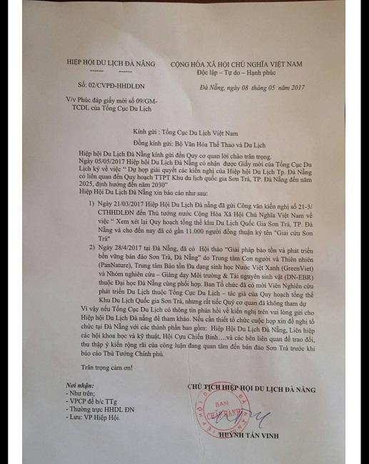 Người gửi tâm thư lên Thủ tướng về Sơn Trà từ chối ra Hà Nội họp